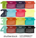 presentation with four... | Shutterstock .eps vector #121390027