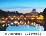River Tiber In Rome   Italy At...