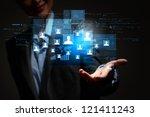 modern wireless technology and... | Shutterstock . vector #121411243