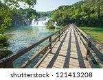 Krka National Park is one of the eight national parks in Croatia. - stock photo