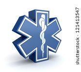 "Symbol ""Star of life"" (done in 3d) - stock photo"