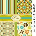 set of retro seamless patterns  ...   Shutterstock .eps vector #121444003