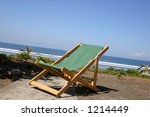Lonely Chair in the Beach - stock photo