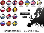 high detailed national flags of ... | Shutterstock . vector #121464463