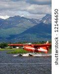 Floatplane On Lake Hood In...