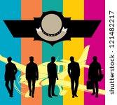 silhouettes of men 0033 | Shutterstock .eps vector #121482217