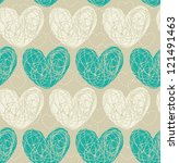 seamless pattern with doodle... | Shutterstock .eps vector #121491463