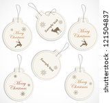 christmas tags | Shutterstock .eps vector #121504837