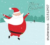 funny vintage merry christmas... | Shutterstock . vector #121512937