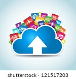this image represents a cloud... | Shutterstock .eps vector #121517203