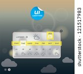 vector weather widget  button ...