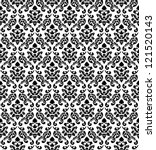 damask seamless vector pattern... | Shutterstock .eps vector #121520143