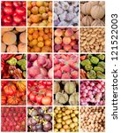 collection of fruit and... | Shutterstock . vector #121522003