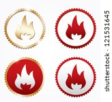 Symbols of fire.Vector - stock vector