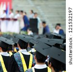 back of graduates during... | Shutterstock . vector #121532197