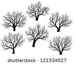 set of vector silhouettes of... | Shutterstock .eps vector #121534027