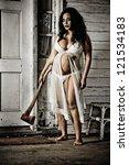 horror scene of a pregnant... | Shutterstock . vector #121534183