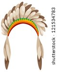 native american headdress vector | Shutterstock .eps vector #121534783