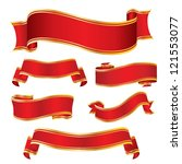 red gold banners | Shutterstock .eps vector #121553077