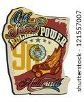 power roller skate | Shutterstock .eps vector #121557007