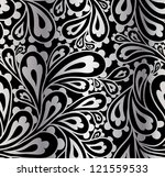doodle paisley seamless pattern. | Shutterstock .eps vector #121559533