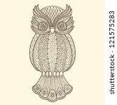 decorative owl | Shutterstock .eps vector #121575283