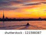 View Of Neva River In Dawn....