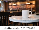 Closeup Of A Cup Of Coffee At...