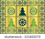 christmas icons golden...   Shutterstock . vector #121603273
