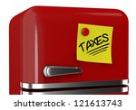 close up view of a refrigerator ... | Shutterstock . vector #121613743