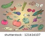 vegetables | Shutterstock .eps vector #121616107