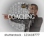 coaching cloud concept with a...   Shutterstock . vector #121618777