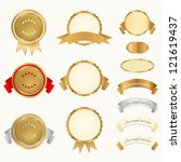 vector set  awards  insignia ... | Shutterstock .eps vector #121619437