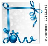 holiday background with blue... | Shutterstock . vector #121621963