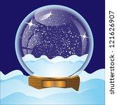 illustration of glass christmas ... | Shutterstock . vector #121626907