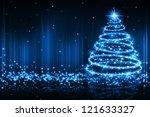 the best christmas golden tree...   Shutterstock . vector #121633327