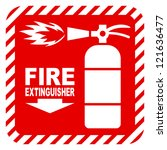 Sign Of The Fire Extinguisher...