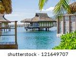 overwater bungalow  moorea ...   Shutterstock . vector #121649707