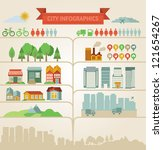 Vector design elements for infographics about city and village