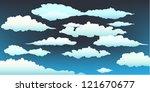 clouds on a dark blue sky | Shutterstock .eps vector #121670677