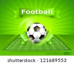football  soccer  field stadium ... | Shutterstock .eps vector #121689553