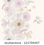 seamless pattern with flowers | Shutterstock .eps vector #121704457