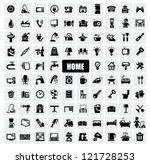 vector black home appliances...   Shutterstock .eps vector #121728253