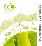 illustration environmentally... | Shutterstock . vector #121730383