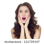 portrait of attractive ... | Shutterstock . vector #121735147