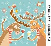 Vector Comic Christmas Card....