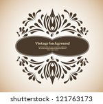 background with frame | Shutterstock .eps vector #121763173