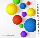 abstract 3d colorful spheric... | Shutterstock .eps vector #121773793