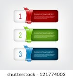 one two three steps vector... | Shutterstock .eps vector #121774003