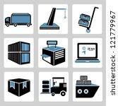 shipping icons set  vector | Shutterstock .eps vector #121779967